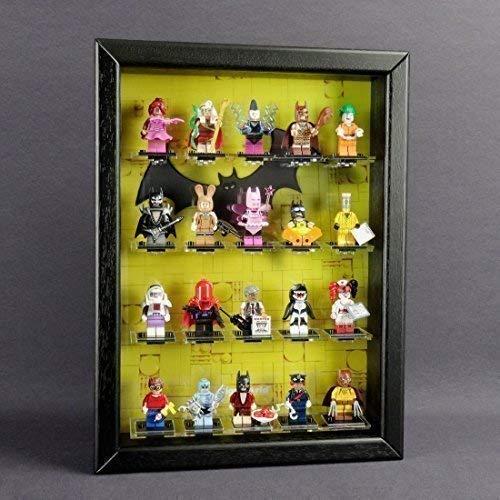 Figucase Sammelvitrine für LEGO® Serie 71017 minifigures Serie Batman schwarz (Batman Lego Custom Minifiguren)