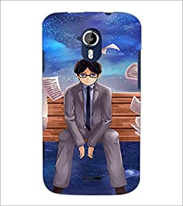PrintDhaba Boy D-2600 Back Case Cover for MICROMAX A116 CANVAS HD (Multi-Coloured)
