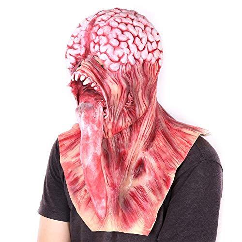 CLEAVE WAVES Resident Evil Licker Maske Horror Lange Zunge Gehirn Platzen Maske Für Halloween Kostüm Party
