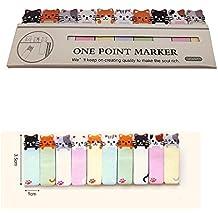 dersoning-Aufkleber Bequemlichkeit von Comic Bookmark Memo Post Tab Sticky Notes Marker SCHREIBWAREN–Cute Cats