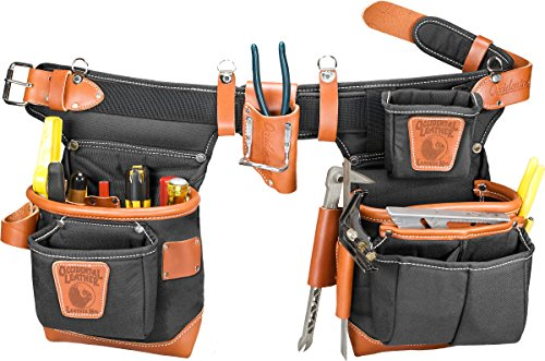 Occidental Leather 9850LH - Cintura porta attrezzi a bordi spessi, per mancini, con sistema di regolazione Adjust-to-Fit