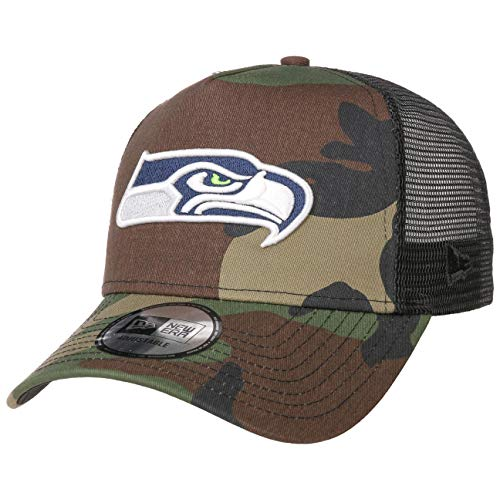 New Era Camo Color Trucker Adjustable Cap Seattle Seahawks Camouflage, Size:ONE Size