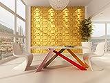 Panel Decorativo 3D Choc para paredes interiores, 100% ecológico fabricado con bambú, 6 Paneles de...