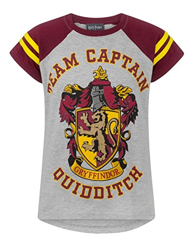 Harry Potter Quidditch Team Captain Girl'S T-Shirt (9-10 Years)