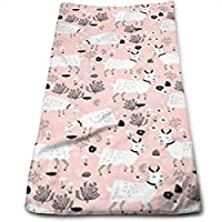 ewtretr Toallas De Mano, Farm Goats Baby Girl Cute Farm Animal Microfiber Beach Towel Large