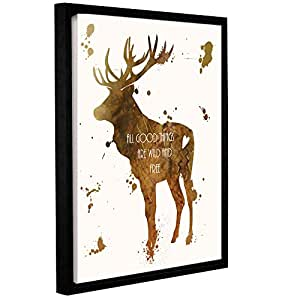 ArtWall Anna Quach's Elk Gallery Wrapped Floater Framed Canvas, 24 x 32""