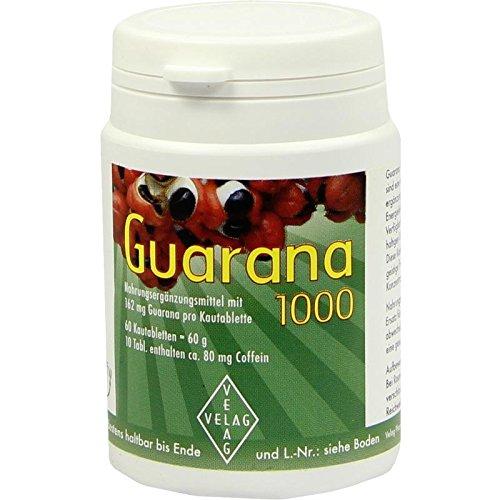 GUARANA 1000 mg Kautabletten 60 St Kautabletten - 1000 Mg Kautabletten