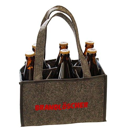 Männerhandtasche Brandlöscher Filz-Flaschentasche