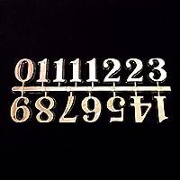 Selbstklebende Uhrenziffern, schwarz & gold, Kunststoff, Zahlen / römische Ziffern / Punkte / Striche, Silver Numbers 20mm High