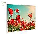 Magnettafel Pinnwand mit Motiv Natur Blumen Mohnblumenwiese im V Größe 100 x 80 cm