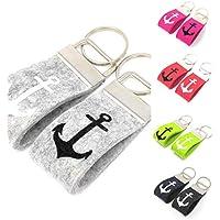 Schlüsselanhänger Mini Anker Farbwahl Wollfilz personalisiertes Geschenk