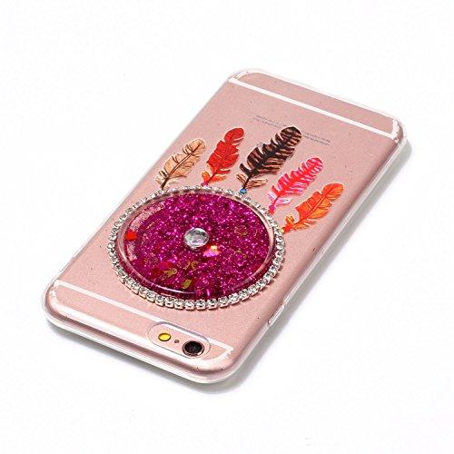 iPhone 6S 4.7 Coque, Voguecase TPU avec Absorption de Choc, Etui Silicone Souple Transparent, Légère / Ajustement Parfait Coque Shell Housse Cover pour Apple iPhone 6/6S 4.7 (Quicksand dreamcatcher-Ro Quicksand dreamcatcher-Rose