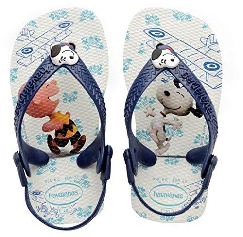 Havaianas Baby Jungen Snoopy Lauflernschuhe, Mehrfarbig (White/Navy Blue 0052), 25/26 EU