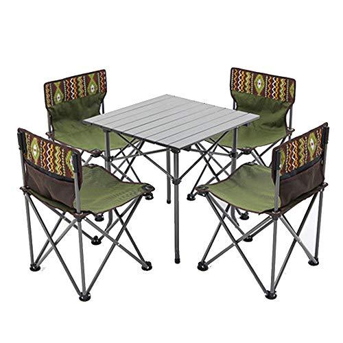fang zhou Robuste Klapptisch und Stuhl Set, Outdoor tragbare Freizeitgeräte, rutschfeste dauerhafte Lagerung einfach, geeignet für Familienfreunde sammeln