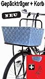 Fahrrad Gepäckträger + Korb grau Hollandrad vorne schwarz Fahrradkorb Hundekorb