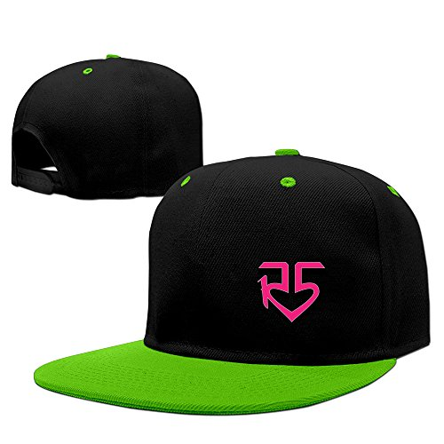 minucm-pop-rock-band-r5-pink-logo-louder-ross-lynch-fitted-hats