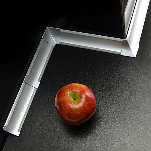 [DQ-PP] 2,5m Winkelleisten Aluminum silver für Küchen 23mm x 23mm Arbeitsplatten Grundprofil...