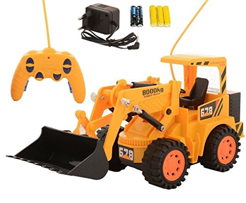 MousePotato Wireless Remote Control Rechargeable Truck Loader Forklift 4WD Big Size Toy Gift for Kids
