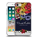 Head Case Designs Offizielle Frida Kahlo Blüten Lumig Rot Soft Gel Hülle für Apple iPhone 7 / iPhone 8
