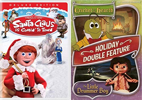 Cricket-bundle (Rankin/Bass Holiday Classics - Santa Claus is Coming to Town (Deluxe Edition) & Cricket on the Hearth and Little Drummer Boy (Double Feature) DVD Bundle)