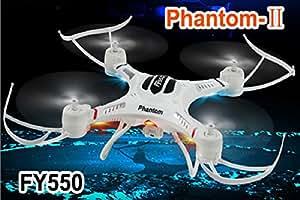 Fayee FY550 Phantom-II Explorer Quadcopter Helicopter 2.4G 4CH RC 3D Drone LED Lampe - Sans caméra - Couleur Blanc