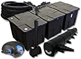 SunSun Filter Set für 90000l Teich mit 72W Teichklärer und 100W ECO Pumpe 25m Schlauch Springbrunnen