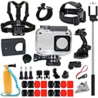 Deyard Y-05 di protezione Custodia impermeabile 35 in 1 Accessori Bundle per Xiaomi 4K/4K+/Yi Lite Action Camera 2 (non adatto per la action camera serie Mijia)