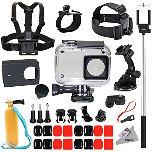 Galleria fotografica Deyard Y-05 di protezione Custodia impermeabile 35 in 1 Accessori Bundle per Xiaomi 4K/4K+/Yi Lite Action Camera 2