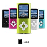 Btopllc MP3-Player, MP4-Player, Digitale Musik-Player 16 GB Interne Speicherkarte, Tragbare und kompakte MP3/MP4-Musik-Player, Media Player, Video Player,Ebook, Bild Musik-Player - Grün