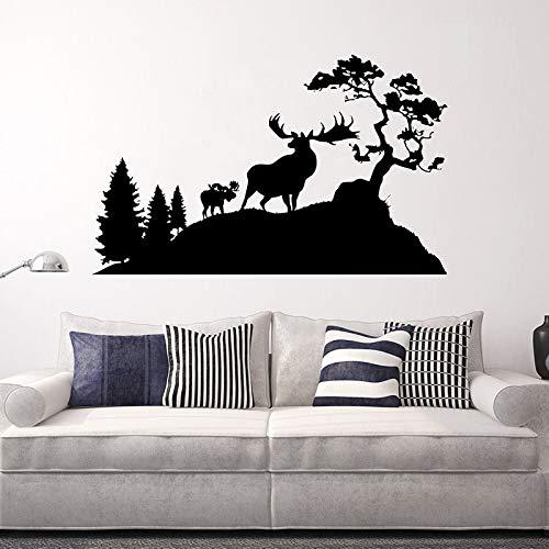57x92cm Deers Decal Art Vinyl Wall Sticker Landscape Tree Remove Schlafzimmer Livingroom Decoration Poster -