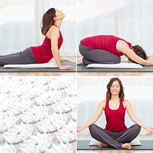 LCQI Esterilla Acupresión Yoga - Mejora Circulación Sanguinea Presión Arterial - Alivia Dolores Articulares - Estrés Ansiedad Insomnio