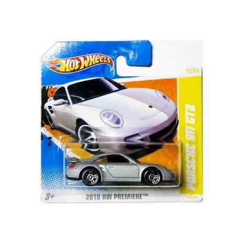 2010Hot Wheels (Silber) Porsche 911GT2# 15/214, HW Premiere # 15/52(kurz Karte)