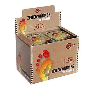 WARMPACK Zehenwärmer, 40 Paar, einfach auspacken und 7 Stunden lang Wärme genießen