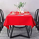 SONGHJ Einfarbige rote Tischdecke aus Leinenbaumwolle Wasserdichtes, kohlensäurebeständiges und ölbeständiges Tischtuch Fashion Dinner Room Tuch Plain Table Cover A 140 × 200 cm