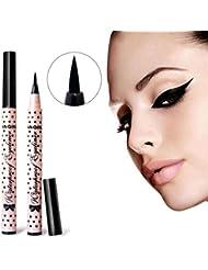 Familizo Waterproof Eyeliner Pen Makeup Cosmetic Black Pink Liquid Eye Liner Pencil Make Up Tool
