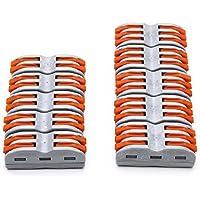 Suyep - Juego de conectores de alambre para palanca, 400 V, 28-12 AWG, PCT-SPL-X/222-41X