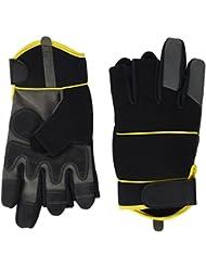 Gants Mitaines de Mécanicien par Easy Off Gloves – Disponibles en tailles 7-11 - Idéal pour la pêche, le travail, la photographie, bricolage et commerçant.