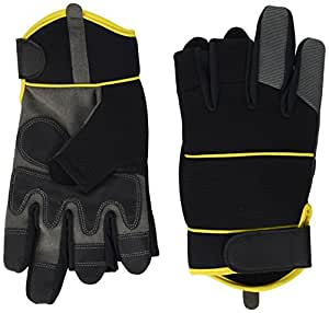 Gants Mitaines de Mécanicien par Easy Off Gloves – Disponibles en tailles 7-11 - Idéal pour la pêche, le travail, la photographie, bricolage et commerçant. (Extra Petit EU 7)