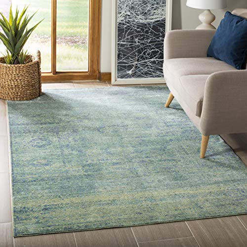Safavieh Lulu gewebter Teppich, MYS920G, Grün / Mehrfarbig, 91 X 152  cm