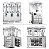 BuoQua 54L Weiß Getränkespender mit zapfhahn 380w Kaltgetränke 18Lx3 Tanks kaltgetränkebecher kaltgetränkedispenser Stainless Steel kaltgetränkespender Juice Beverage Dispenser Weiß