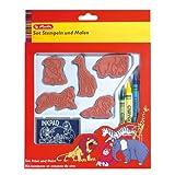 Herlitz 1045954 10teiliges Kreativset Stempeln und Malen für Kinder