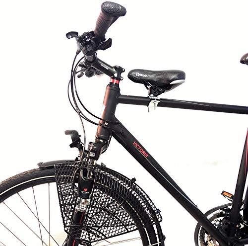 Fahrrad Kindersitz für vorn Komplett Set, Größe:Damen Gr.2 Rahmen Ø 25-42mm