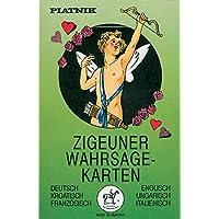 Zigeuner Wahrsagekarten. Deutsch/Englisch/Kroatisch/Ungarisch/Französisch/Italienisch: 36 Karten mit Anleitung