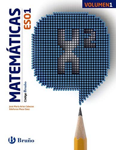 Código Bruño Matemáticas 1 ESO - 3 volúmenes - 9788469609668