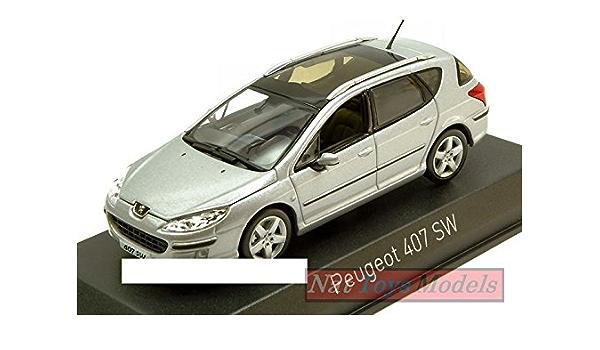 Norev Nv474754 Peugeot 407 Sw 2004 Aluminium Silver 1 43 Model Lino Cast Spielzeug