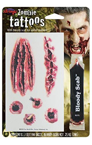 Zombie Schußwunden Tattoo