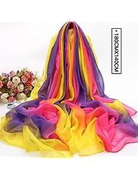ZHANGYONG La Primavera y el Verano, Bufanda Bufanda Femenina Toalla de Playa Sol Rectangular Multifuncional