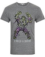 Junk Food Hulk I Need A Break Mens T-Shirt