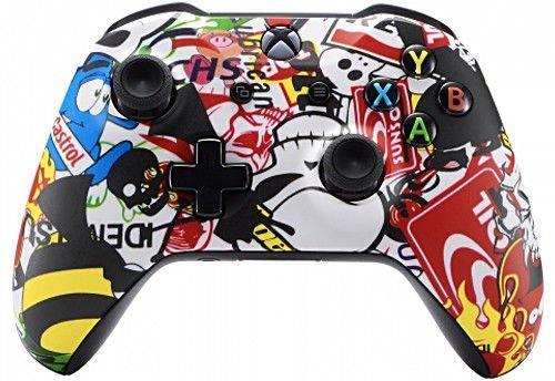 Sticker Bomb Xbox One S/X Rapid Fire Custom Modding Controller 40Mods für Alle Major Shooter Spiele 2. Weltkrieg (mit 3,5Klinke)