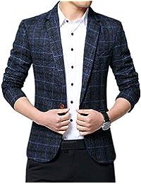 ZiXing Giacca Blazer Elegante Uomo Slim Fit Vintage Formale da Sera f65b6d17243